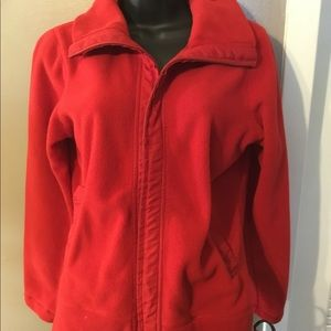 Cold water Creek Xs 4 jacket red zip up long sleev